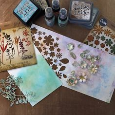 "Diecut Tim Holtz ""Wildflowers"" out of Pattern Paper"