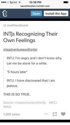 I'm an INFP but yes. I've discovered I can be an extremely jealous person (only in the crush department, I'm not jealous of other people's successes or stuff like that), and it's SO ANNOYING AND UNCOMFORTABLE.