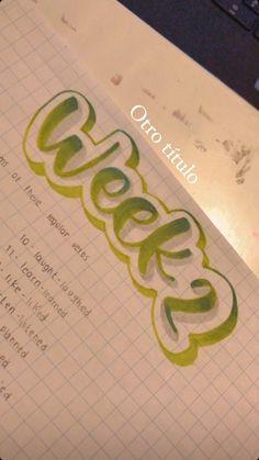 Bullet Journal Lettering Ideas, Bullet Journal Aesthetic, Bullet Journal Writing, Bullet Journal School, Bullet Journal Inspiration, School Organization Notes, School Notes, Pretty Notes, Types Of Lettering