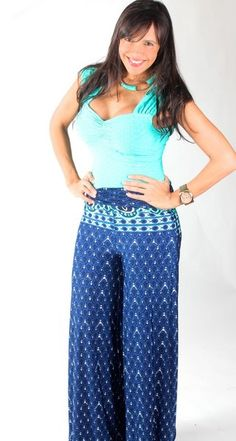 Amazing #blue #pant with blue print, available in sizes S,M and L for  $20.00 only.