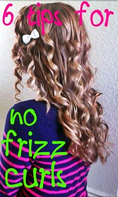 Smooth, NO frizz curls How to