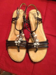 Check out Clarks Beaded Sandals on Threadflip!