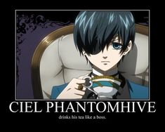 Ciel Phantomhive : Black Butler- Ciel Phantomhive Motivational Poster by ~GrayGlassTrick on deviantART Black Butler Meme, Black Butler Ciel, Black Butler Sebastian, Black Butler Kuroshitsuji, Black Butler Quotes, Rock Chic, Rock Bands, Rock And Roll, Hard Rock