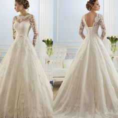 2016 hot sale beautiful lace Wedding Dresses cheap a line Wedding Gown Bridal Dresses Bridal Gown with ribbon