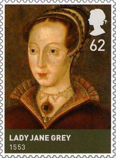 (Tudors) 62p Stamp (2009) Lady Jane Grey (1553)