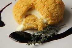 V kuchyni vždy otevřeno ...: Hermelín v kuskusové krustě s rybízovou omáčkou