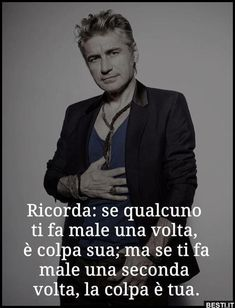 Ricorda | BESTI.it - immagini divertenti, foto, barzellette, video Italian Quotes, Intelligent People, For You Song, Life Philosophy, Quotes About Strength, Vignettes, Quotations, Poems, Life Quotes
