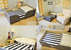 DIY Toddler bed trundle. Chris and Sonja - The Sweet Seattle Life