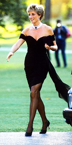 THE CHIC YEARS: 1992-1997In 1994 Diana cemented a memorable style moment when she entered the Serpentine Gallery in a sexy asymmetrical frock by Greek designer Christina Stambolian – on the same night Prince Charles confessed on TV that he had cheated. It was the first time as a royal that she had worn black to a public event.