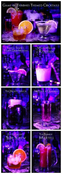 Game of Thrones Season Finale Cocktail Party Drink Recipes! #GOT
