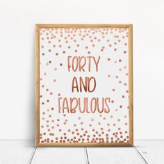 80 and fabulous, Happy Birthday, Cheers to 80 Years, Anniversary Sign, Confetti Rose Gold 40th Birthday Party Themes, Happy 80th Birthday, Birthday Cheers, Happy 40th, Gold Party Decorations, Birthday Decorations, Anniversary Gifts For Parents, 70th Anniversary, As You Like