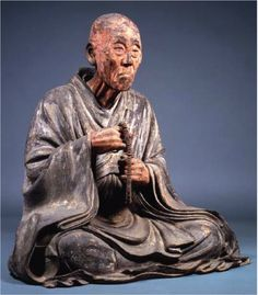 pictures of sculptures by Unkei or Kaikei | Monk Chōgen, sculpture, early 13th c., wood, color, Kamakura period