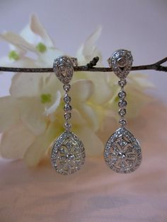 Dew Drop Pendant Posted Formal Earring  SOLID by UniqueJewelryLLC, $68.00