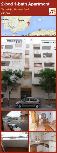 2-bed 1-bath Apartment in Torrevieja, Alicante, Spain ►€50,000 #PropertyForSaleInSpain