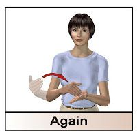 sign for AGAIN When is a good time to use AGAIN versus MORE? learn sign language with us! www.hearmyhandsasl.com