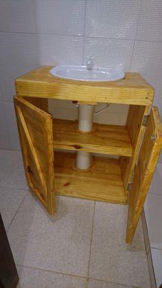 Diy Home Crafts, Diy Home Decor, Room Decor, Diy Bathroom Vanity, Bathroom Furniture, Wood Interior Design, Bathroom Interior Design, Bathroom Organisation, Home Organization