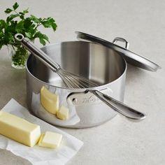 All-Clad Stainless Steel Saucepans with Lids   Sur La Table