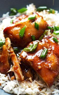 Sticky Bourbon Chicken. Actual bourbon chicken not that sweet & sour recipe.