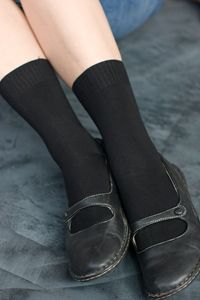 Soft pima cotton ankle socks in lots of colors.   Comfy and lightweight, these work great in everything from creepers to heels.  Made in the USA.