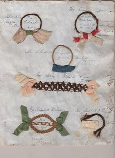 Set of Human Hair Love Momentos dated 1850
