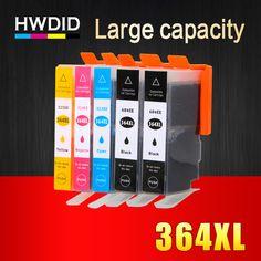 5 Pack 364XL Inktcartridge Vervanging voor HP 364 xl cartridges voor Deskjet 3070A 5510 6510 B209a C510a C309a Printer