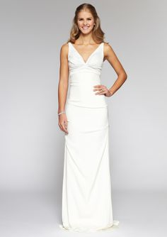NICOLE MILLER  Simone Stretch-Crepe Combo Gown