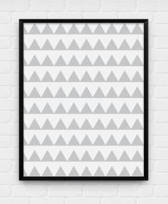 Triangle Pattern - Printable Poster - Digital Art, Download and Print JPG