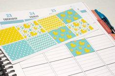 8 Duckies Stickers for Plum Paper Planners Cut by KarolinasKrafts