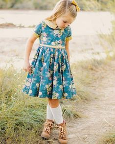 Wendy's Classic collar dress by The Simple Life Pattern Company features a full button back gathered skirt peter pan collar sleeve cuffs and slim belt. - September 21 2019 at Toddler Fashion, Toddler Outfits, Kids Outfits, Girl Fashion, Baby Outfits, Fashion Kids, Fashion 2020, Fashion Clothes, Latest Fashion