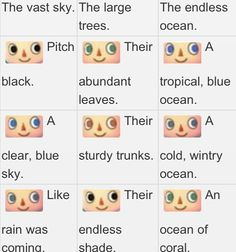 Animal Crossing City Folk Hair Colors 8722 Sab S New Leaf Eye Guide Animal Crossing New Leaf