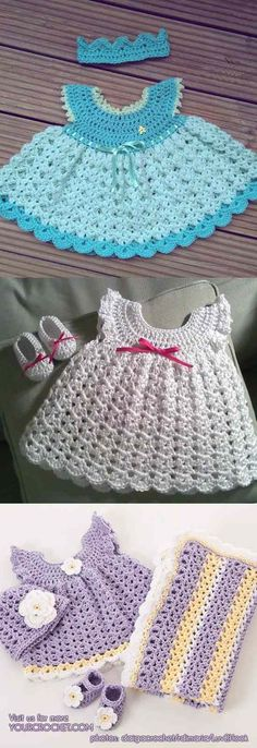 How to Crochet and Jazz Up Your Angel Wing Pinafore Baby Dress [Free Pattern and Ideas] | Your Crochet #dressesideas