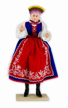 Kujawianka Doll - This traditional Polish doll is completely hand made the old fashioned way with papier mache, dress materials and paints. The doll is clothed in authentic regional folk costume. Folk Costume, Costumes, Fine Porcelain, Porcelain Vase, American Girl, Old Things, Traditional, Disney Princess, Dolls Dolls