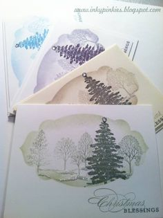 One Layer Evergreen Christmas CAS200, HSS147 by gidgetmd - Cards and Paper Crafts at Splitcoaststampers
