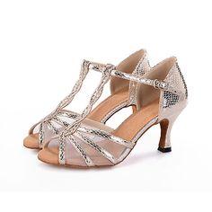 facbb44a Mujer Zapatos de Baile Latino / Zapatos de Salsa Sintéticos Sandalia  Hebilla / Estampado Animal / Poroso Tacón Carrete Personalizables Zapatos  de baile ...
