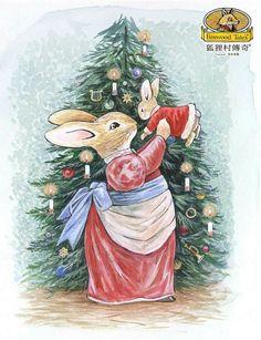 Winter Images, Winter Pictures, Beatrix Potter Illustrations, Beatrice Potter, Book Illustration, Animal Illustrations, Bunny Art, Watercolor Animals, Art Activities