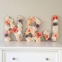 Floral Large Monogrammed Wedding Decor - Floral Wedding Details