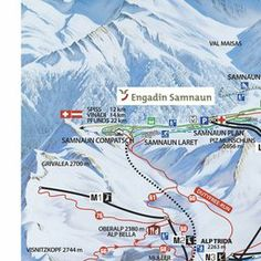 Pistenplan Ischgl - Ski Ischgl Winter Time, Planer, Skiing, Map, How To Plan, Vacation, Winter Vacations, Beautiful Places, Cards