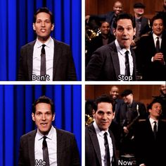Everything, and I mean EVERYTHING, about this is pure PERFECTION. In fact, this has given me an idea...lip sync battle for the reception?! | Paul Rudd And Jimmy Fallon's Lip Sync Battle Is One For The Ages
