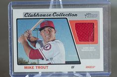 2015 Topps Heritage Mike Trout GU Jersey - Baseball Cards of the Month Club
