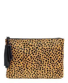 loeffler randall cheetah print clutch