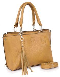 B Lush Handbag With Tassel Detail