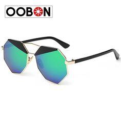 1daac230ce Oobon Rushed Hot Sale Adult 2016 Grey Ant Sunglass Aviator Punk Style  Polygon Big Frame Sunglasses