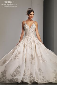 View our Ysa Makino Bridal Gowns and Wedding Dresses featuring luxurious fabric and lace with exquisite hand embroidery - available at our NY Bridal Salons.
