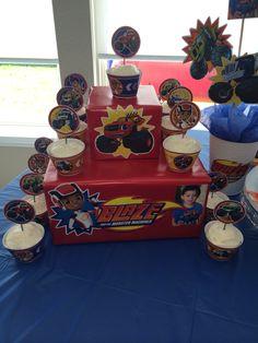 Blaze and monster machines cupcake stand