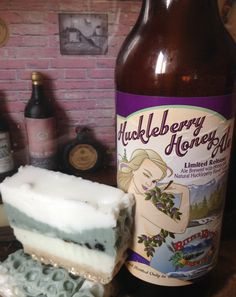 Montana Huckleberry Honey Ale beer soap by Wildhorsemeadowssoap