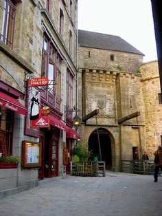 Entrance to Mont Saint-Michel, France.  I ate the lightest, most delicious omelet at La Mere Poulard whipped up in a huge copper bowl by a man with a whisk and an arm like Popeye's!