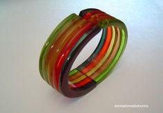 Prystal Bakelite Clamper Bracelet