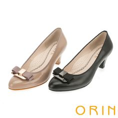 2480 魅力輕時尚 雙層織帶蝴蝶結羊皮中跟鞋 -黑色 - 45/50/65/85/90 可可45/50/80/85/90---5.5CM