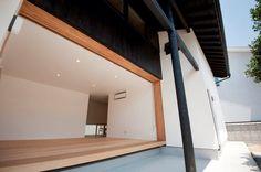 庭と一体感があり開放的なリビングルーム(明日香の家)奈良県橿原市・木の家・秦建築