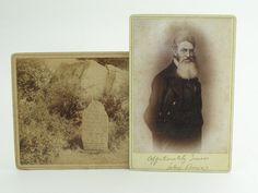 1860s CIVIL WAR PHOTO OF JOHN BROWN ANTI-SLAVERY Cabinet Card & Grave